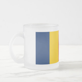 Chad Flag Frosted Glass Coffee Mug