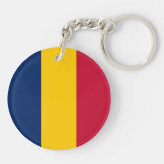 Chad Flag Keychain