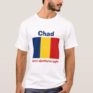 Chad Flag + Map + Text T-Shirt