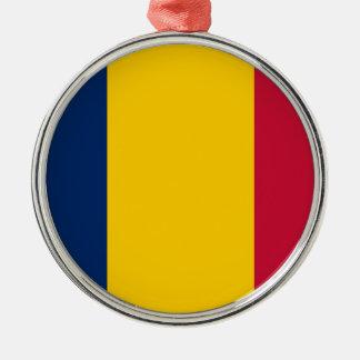Chad Flag Metal Ornament