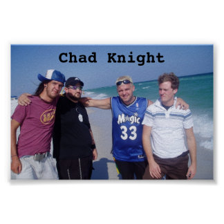 Chad Knight Band Beach Poster