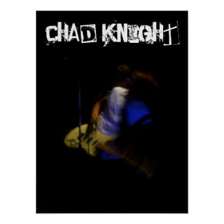 Chad Knight Blurry Tie Poster