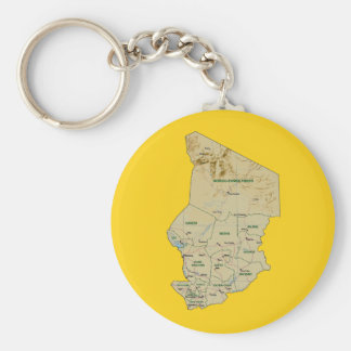 Chad Map Keychain
