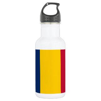 Chad National World Flag 532 Ml Water Bottle
