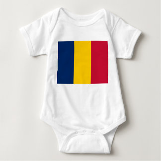 Chad National World Flag Baby Bodysuit
