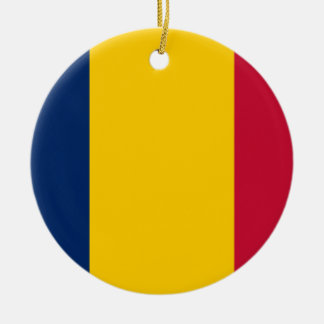 Chad National World Flag Ceramic Ornament
