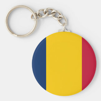 Chad National World Flag Keychain