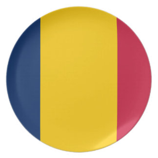Chad National World Flag Plate