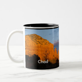Chad on Moonrise Glowing Red Rock Mug