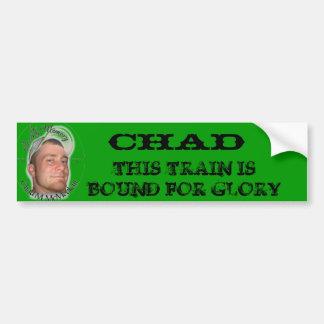 chad sticker(green) bumper sticker