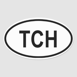 "Chad ""TCH"" Oval Sticker"
