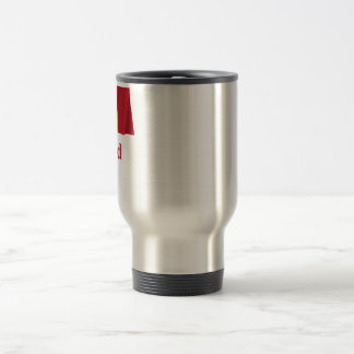 Chad Waving Flag with Name in French Travel Mug