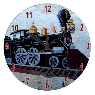 Chadbourn Train Mural Clock