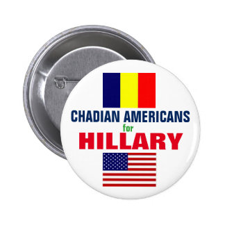 Chadian Americans for Hillary 2016 2 Inch Round Button