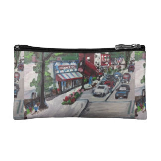 Chagrin Falls, Ohio Street Scene Painting Bag Cosmetic Bags