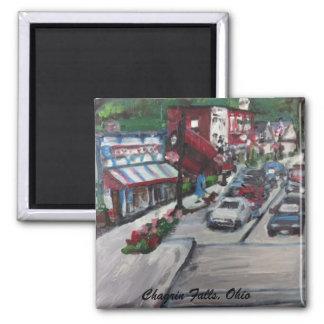 Chagrin Falls, Ohio Street Scene painting Magnet