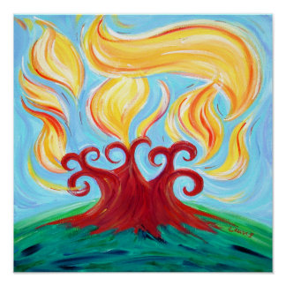 Chai Burning Bush Poster