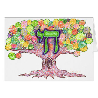Chai, Tree of Life Note Cards