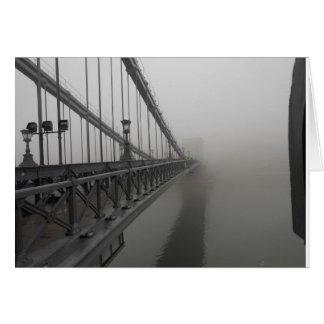 Chain Bridge, Budapest Hungary 2010 Card