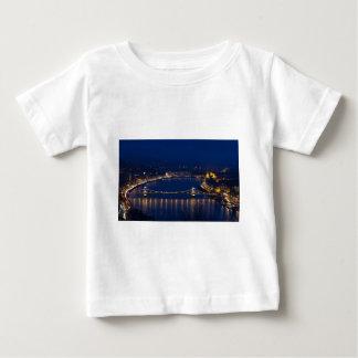 Chain bridge Hungary Budapest at night Baby T-Shirt