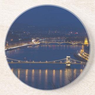 Chain bridge Hungary Budapest at night Coaster