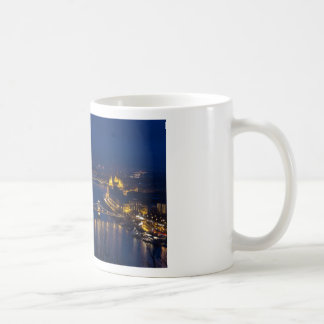 Chain bridge Hungary Budapest at night Coffee Mug