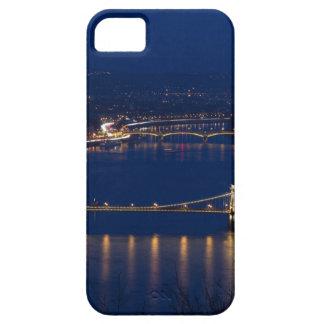 Chain bridge Hungary Budapest at night iPhone 5 Cases