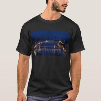 Chain bridge Hungary Budapest at night T-Shirt