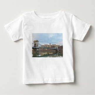 Chain Bridge with Buda Castle Hungary Budapest Baby T-Shirt
