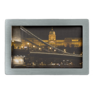 Chain Bridge with Buda Castle Hungary Budapest Belt Buckles