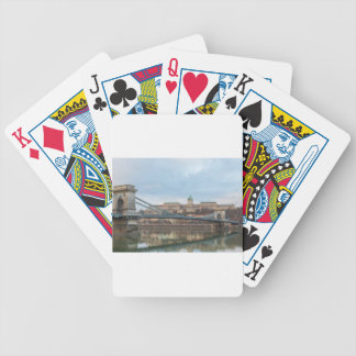 Chain Bridge with Buda Castle Hungary Budapest Bicycle Playing Cards