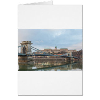Chain Bridge with Buda Castle Hungary Budapest Card