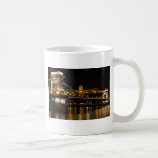Chain Bridge with Buda Castle Hungary Budapest Coffee Mug