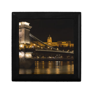 Chain Bridge with Buda Castle Hungary Budapest Gift Box