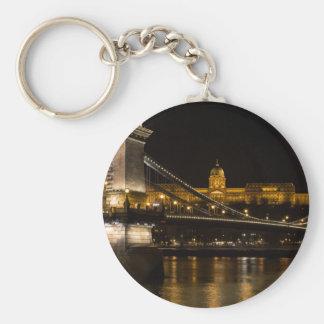 Chain Bridge with Buda Castle Hungary Budapest Keychain