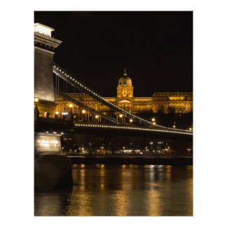 Chain Bridge with Buda Castle Hungary Budapest Letterhead