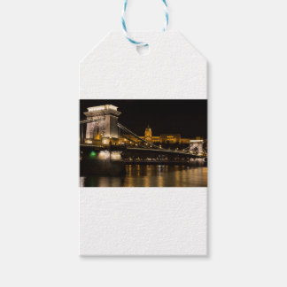 Chain Bridge with Buda Castle Hungary Budapest Pack Of Gift Tags