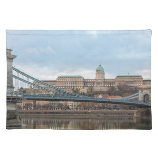 Chain Bridge with Buda Castle Hungary Budapest Placemat