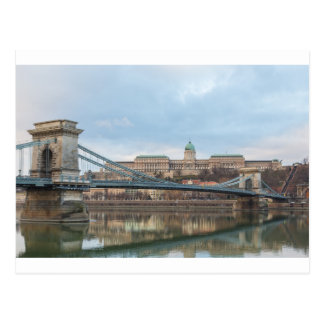 Chain Bridge with Buda Castle Hungary Budapest Postcard