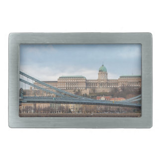 Chain Bridge with Buda Castle Hungary Budapest Rectangular Belt Buckle