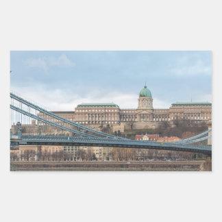 Chain Bridge with Buda Castle Hungary Budapest Sticker