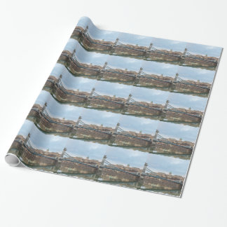 Chain Bridge with Buda Castle Hungary Budapest Wrapping Paper