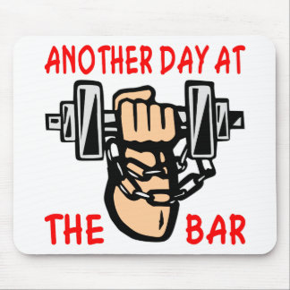 Chain & Dumbbell Another Day At The Bar Mouse Pad