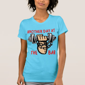 Chain & Dumbbell Another Day At The Bar T-Shirt