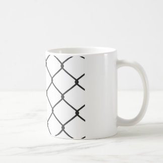 Chain Link Fence Pattern Coffee Mug