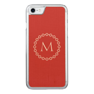 Chain Link Ring Circle Monogram Carved iPhone 8/7 Case