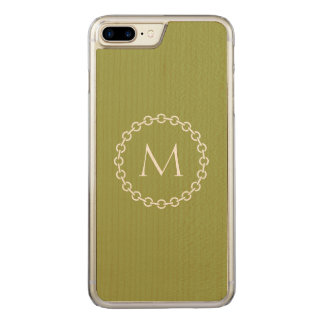 Chain Link Ring Circle Monogram Carved iPhone 8 Plus/7 Plus Case