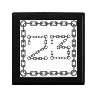 chain numbers gift box