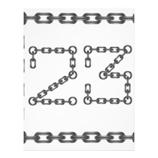chain numbers letterhead