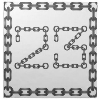 chain numbers napkin